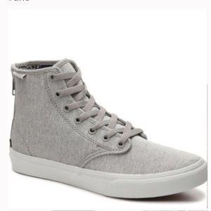 Vans grey Camden hi zipper sz 8.5